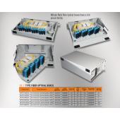 """Mirsan 2U 19"""" 64 Port SCD, F Type Fiber Optical Box (MR.FOF2U64SCD.07)"""