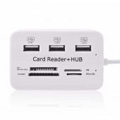 Card reader+ USB 2,0 Hub Combo
