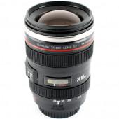 Кружка объектив с эфектом воронки (Lens black)