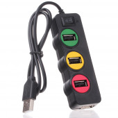 Punada P-1030 USBHUB светофор 4-порт USB2.0