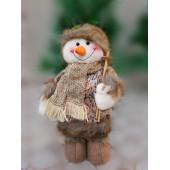 Ёлочная мягкая игрушка Подарок (снеговик 25 см)