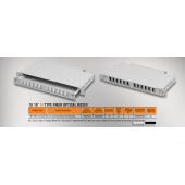 """Mirsan 1U 19"""" 12 Port SCD, M Type Fiber Optical Box (MR.FOM1U12SCD.07)"""