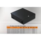 Mirsan 12 Port ST, Wall Type Single Door Fiber Optical Box (MR.FOWS12STS.01)